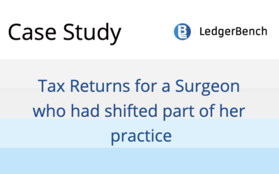 Tax Returns for a Surgeon who had shifted part of her practice