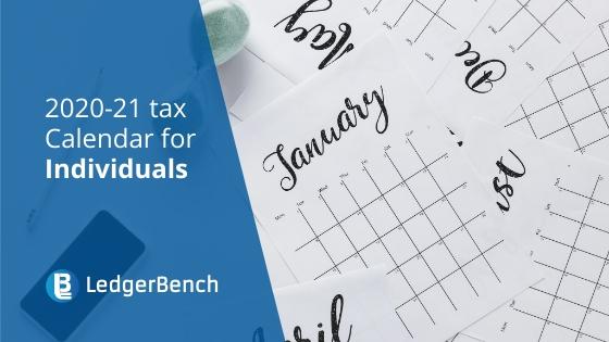 2020-21 Tax Calendar for Individuals