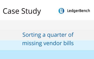 Sorting a quarter of missing vendor bills