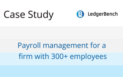 Payroll management for a firm with 300+ employees